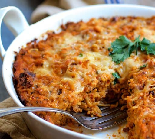 Spaghetti Pie with Three Cheeses