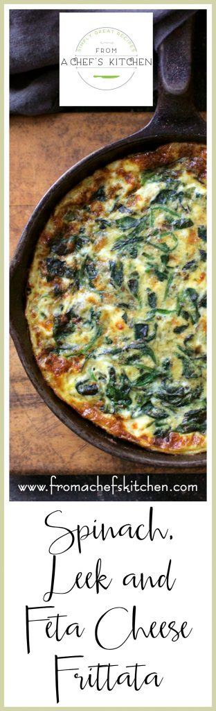 Spinach, Leek and Feta Cheese Frittata is everything! It's a Greek-inspired version of Italy's answer to the French omelet!