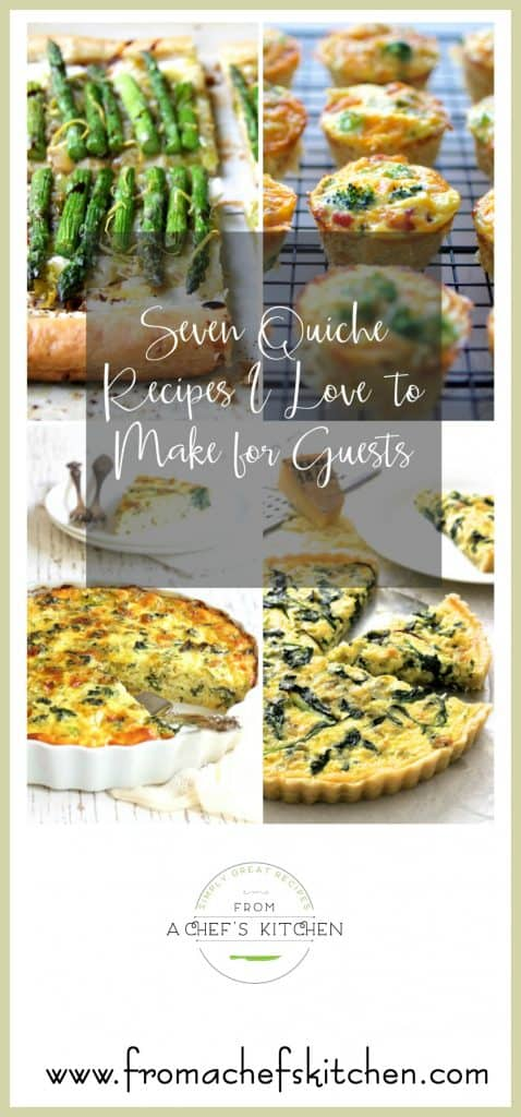 Seven Quiche Recipes I Love to Make For Guests