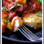 Chicken Scallopini with Roasted Vegetable Ratatouille is a twist on Italian Chicken Parmigiana and classic French Ratatouille!