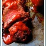 Spice Rubbed Pork Tenderloin with Peach Chipotle BBQ Sauce
