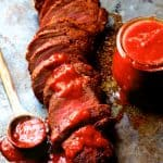 Spice Rubbed Pork Tenderloin with Peach Chipotle Barbecue Sauce
