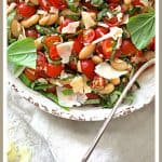 Tuscan Cherry Tomato and White Bean Salad is a beautiful summer salad that's perfect alone or on the side with almost any grilled protein!