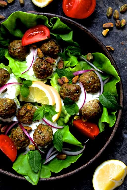 Turkish Turkey Meatball Lettuce Wraps