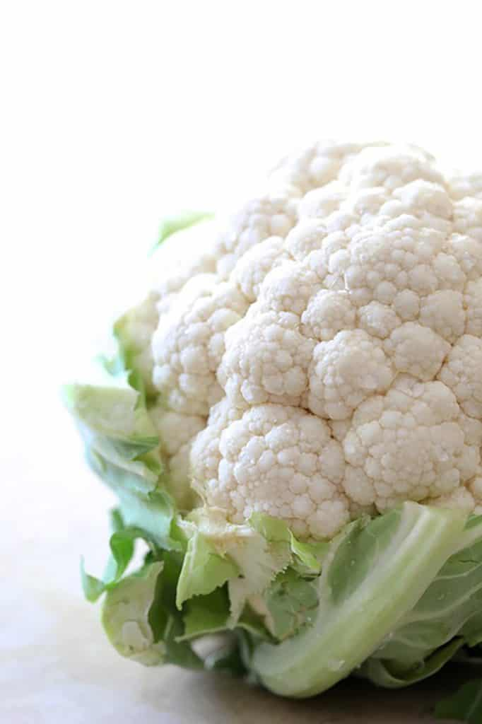 Whole head of cauliflower