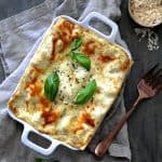 Lasagna with Pesto Green Beans and Potatoes