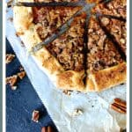 Sweet Potato Galette with Pecan Streusel Topping is the classic sweet potato casserole enveloped in pastry!