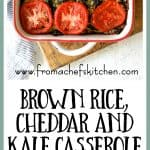 Brown Rice Cheddar Kale Casserole is perfect meatless comfort food that's also super versatile! Vary the grains and vary the greens!