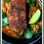 Indian Spiced Sea Bass with Braised Red Lentils is a healthful way to spice up a winter night!
