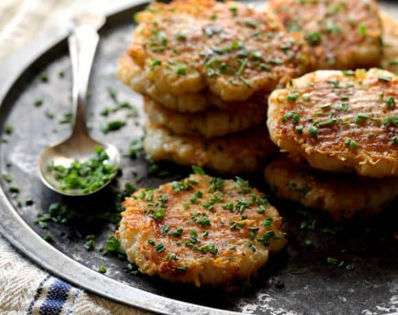 Parmesan Crusted Crushed Turnips