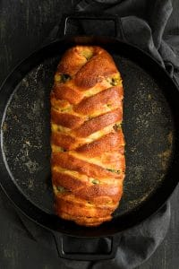 Savory Breakfast Strudel with Eggs, Sausage and Swiss Chard
