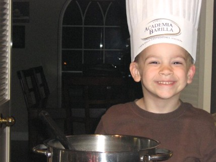 Taste Matters Celebrating Fathers - Photo of boy with chef's hat