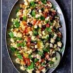 Cauliflower Antipasto Salad is easy summertime fare that's light, crunchy, crazy flavorful and perfect for feeding a crowd! #cauliflower #antipasto #salad #Italian #Italianfood