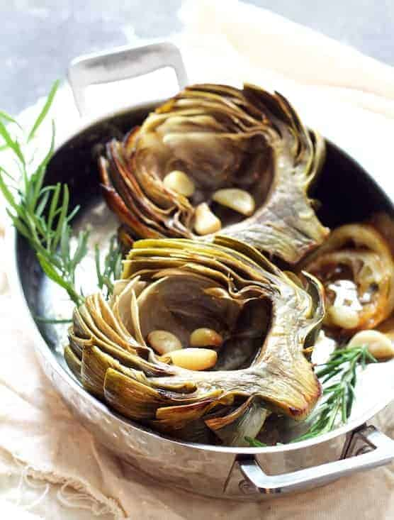 Roasted Artichokes with Garlic Butter