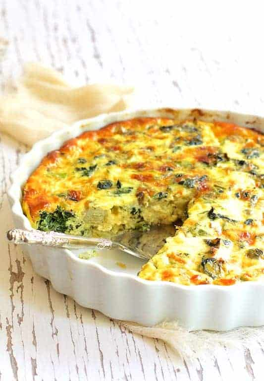 Crustless Spinach Artichoke Jalapeno Quiche From A Chef S Kitchen