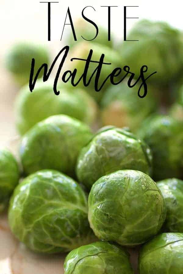 Taste Matters Cover Photo of Brussels Sprouts