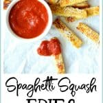Spaghetti Squash Fries are the perfect snack or side dish for kids of all ages! A cooking project you can do with your kids, Spaghetti Squash Fries are simply delicious–and addictive!