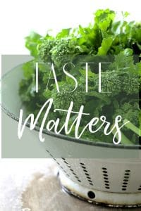 Taste Matters Cover Photo of Broccoli Raab in white colander