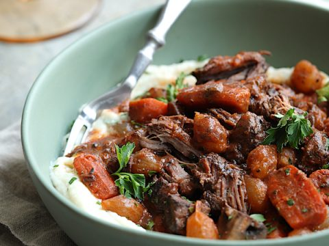 Slow Cooker Boneless Beef Short Ribs Bourguignon