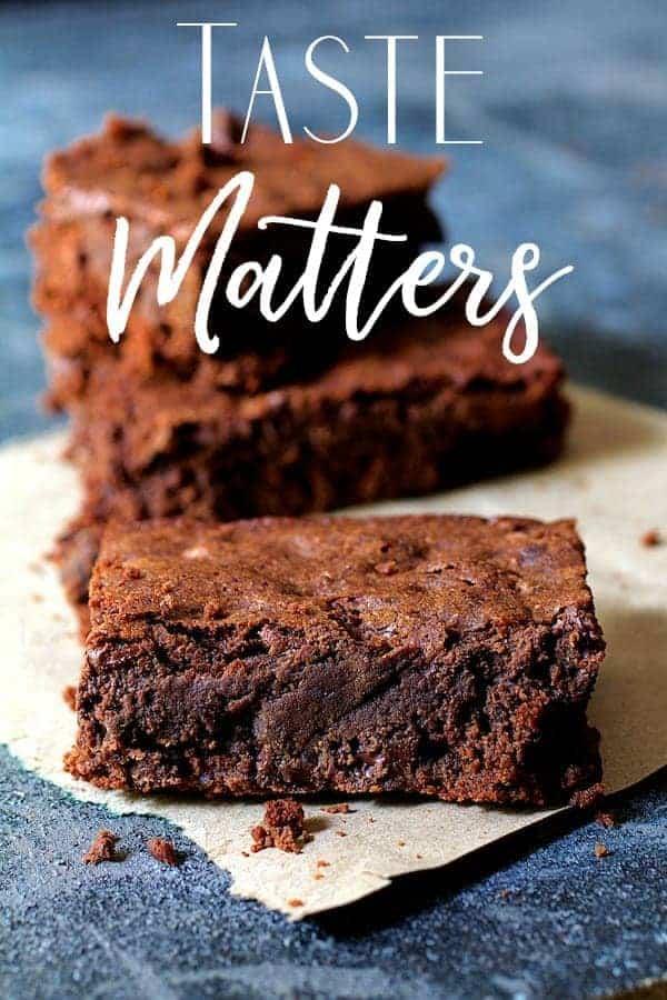 Taste Matters cover of chocolate brownies