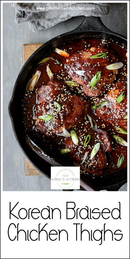 Korean Braised Chicken Thighs use the most flavorful and budget-friendly part of the chicken for a dish you'll crave again and again!
