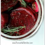 Pinterest image for Quick Pickled Beets with Dill