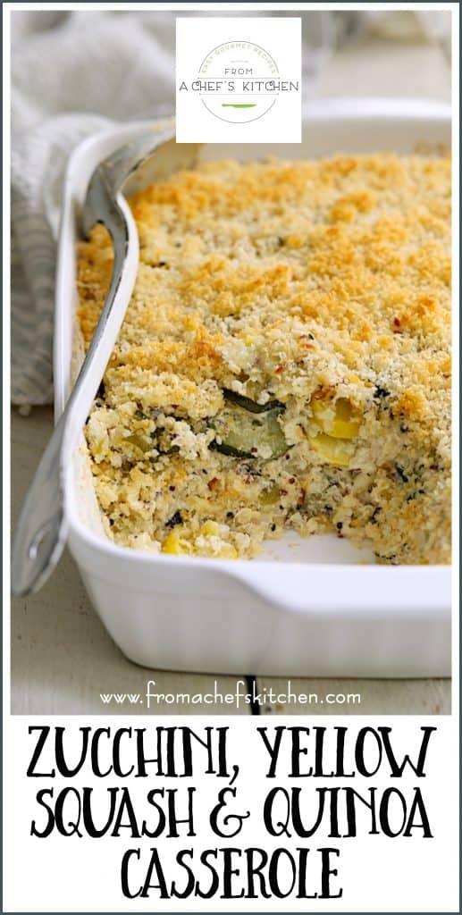 Pin Image for Zucchini, Yellow Squash and Quinoa Casserole