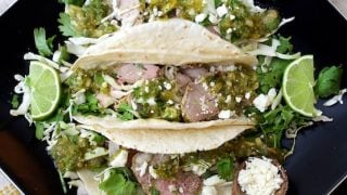 Cumin Lime Roast Pork Tacos with Salsa Verde