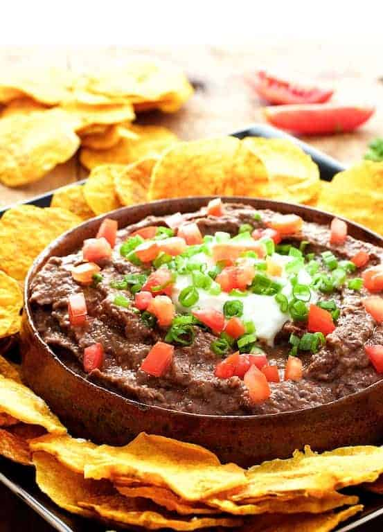 Chipotle Black Bean Dip with Oil-Free Butternut Squash Chips