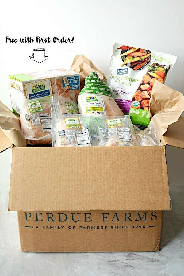 Shot of Perdue box with product