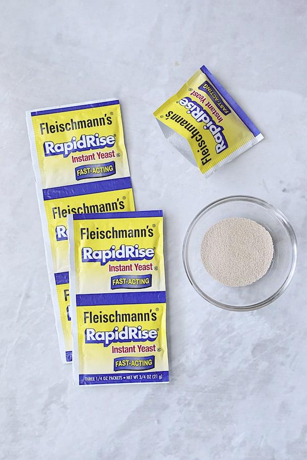 Overhead shot of Fleischmann's Yeast