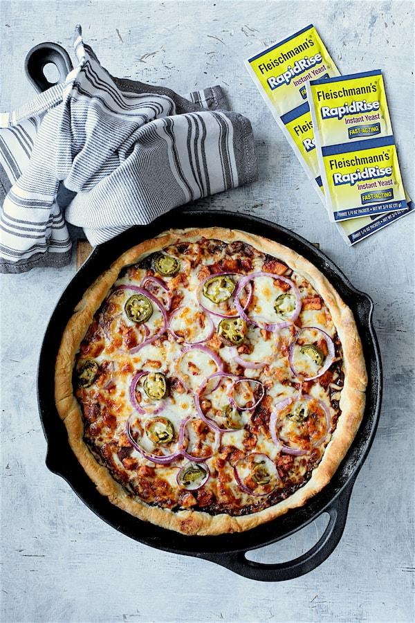 Skillet Barbecue Chicken Pizza