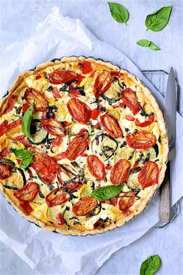 Provencal Vegetable and Goat Cheese Tart