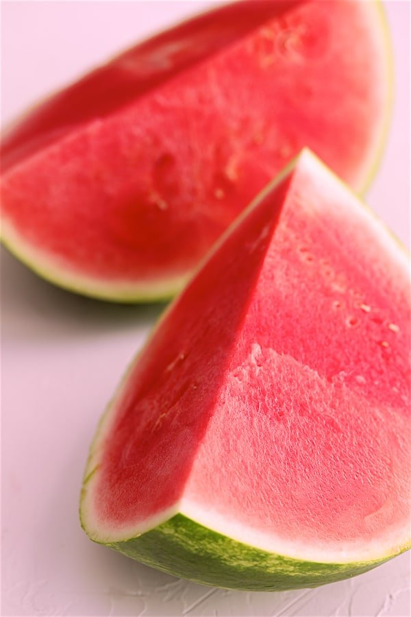 Two watermelon wedges