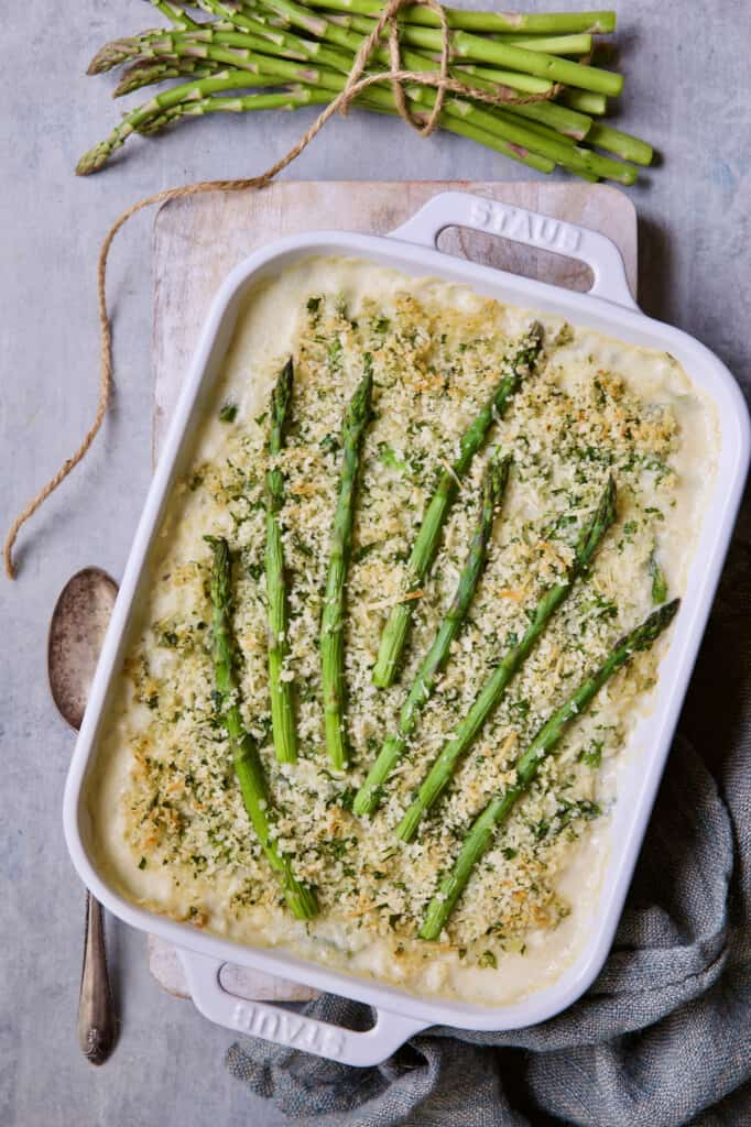 Photo of Creamy Asparagus and Rice Casserole.
