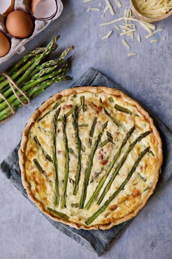 Asparagus Prosciutto and Fontina Tortino
