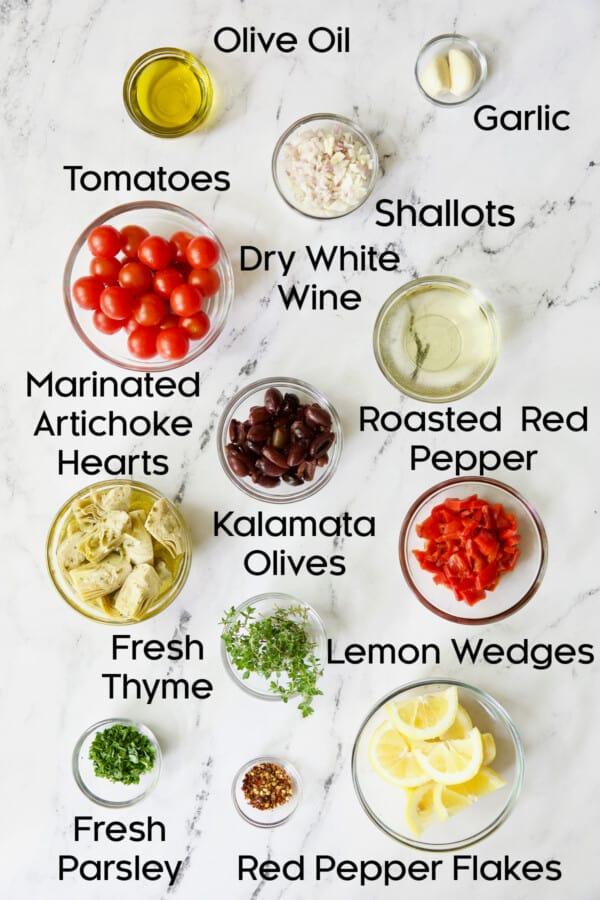 Photo of ingredients for Easy Skillet Mediterranean Chicken
